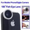 Action Camera, Camera, Tripod, Camera Case - Fisheye Wide Angle 180 Degree Lens for iPhone 4 / Mobile Phone / Digital Camera