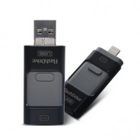Flashdisk i-Flash Drive 3 in 1 OTG Micro USB + Lightning 16GB - Black