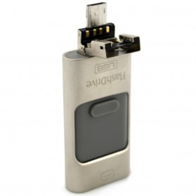 Flashdisk i-Flash Drive 3 in 1 OTG Micro USB + Lightning Dual Storage 16GB - DD3 - Black - 4