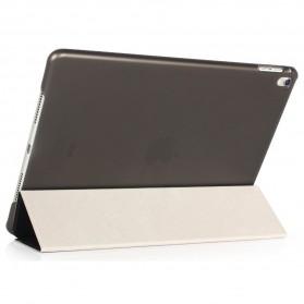 Ultra Thin Tri Fold Leather Hard Case for iPad Pro 9.7 Inch - Black - 2