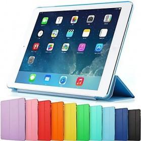 Ultra Thin Tri Fold Leather Hard Case for iPad Pro 9.7 Inch - Black - 3