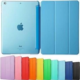 Ultra Thin Tri Fold Leather Hard Case for iPad Pro 9.7 Inch - Black - 4