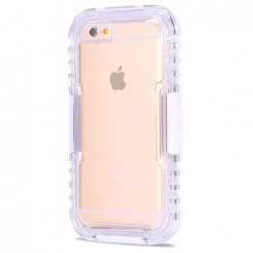 Hybrid Outdoor Swimming Dive Waterproof IP-68 Case for iPhone 6/6s - White