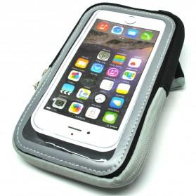 Mesh Cloth Material Sports Armband Pocket Case L Size - ZE-AD500 - Black - 1