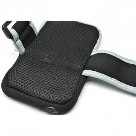 Mesh Cloth Material Sports Armband Pocket Case L Size - ZE-AD500 - Black - 2