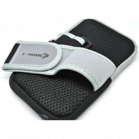 Mesh Cloth Material Sports Armband Pocket Case L Size - ZE-AD500 - Black - 3