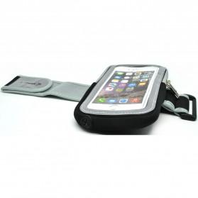 Mesh Cloth Material Sports Armband Pocket Case L Size - ZE-AD500 - Black - 4