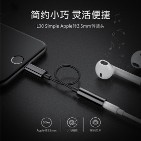 Adapter Lightning ke 3.5mm Headphone for iPhone 7/8/X - Silver - 6