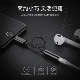 Adapter Lightning ke 3.5mm Headphone for iPhone 7/8/X - Black - 2