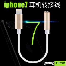 Adapter Lightning ke 3.5mm Headphone for iPhone 7/8/X - Black - 7