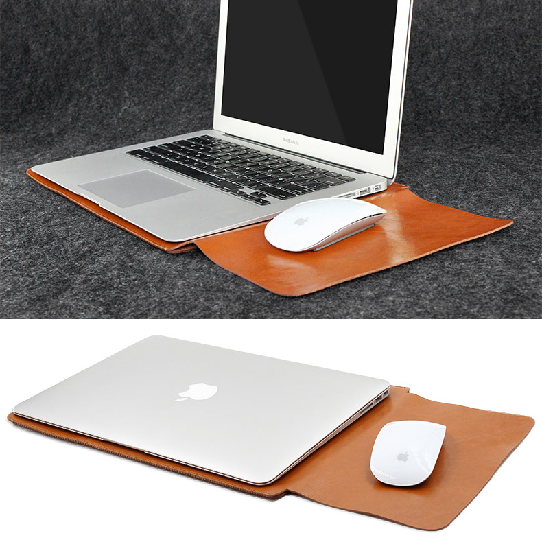 leather sleeve case for macbook pro 2016 touch bar macbook air 15 inch black. Black Bedroom Furniture Sets. Home Design Ideas