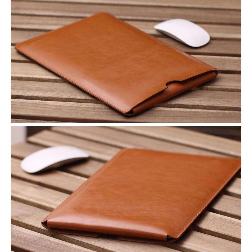 wholesale dealer 5b5c4 b04c3 Leather sleeve Case for Macbook Pro 2016 Touch Bar & Macbook Air 15 Inch -  CNC42 - Black