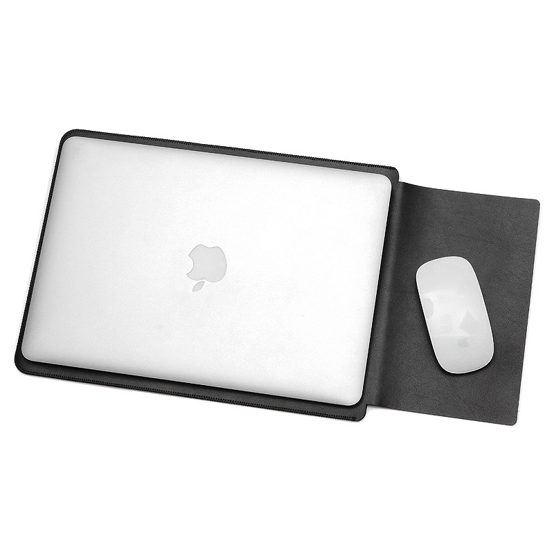 finest selection ade02 98670 Leather Sleeve Case for Macbook Pro 2016 Touch Bar & Macbook Air 13 Inch -  CNC42 - Black