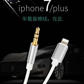 Kabel Lightning ke 3.5mm Headphone for iPhone 7/8/X - Silver - 2