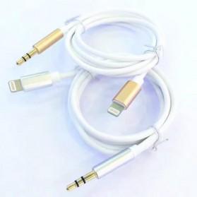 Kabel Lightning ke 3.5mm Headphone for iPhone 7/8/X - Silver - 3