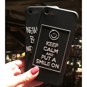 Painted Hardcase for iPhone 6/6s - Smile - Black