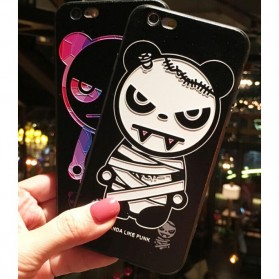 Painted Hardcase for iPhone 6/6s - White Bear - Black - 1
