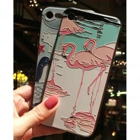 Painted Hardcase for iPhone 6/6s - Flamingo - Black