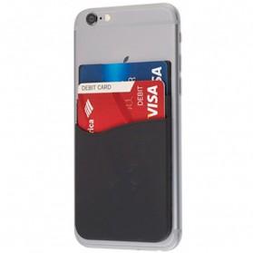 Smartphone Silicone Card Holder Tempat Kartu - 3M - Black