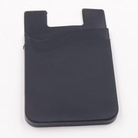 Smartphone Silicone Card Holder Tempat Kartu - 3M - Black - 3
