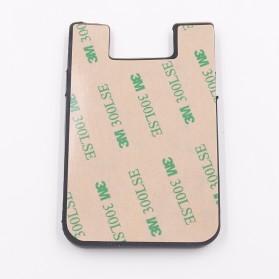 Smartphone Silicone Card Holder Tempat Kartu - 3M - Black - 4