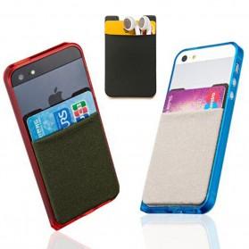 Smartphone Silicone Card Holder Tempat Kartu - 3M - Black - 5