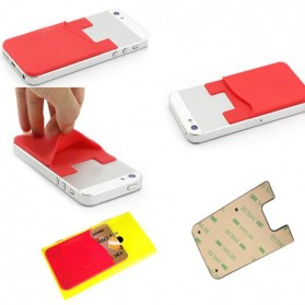 Smartphone Silicone Card Holder Tempat Kartu - 3M - Black - 6