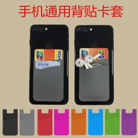 Smartphone Silicone Card Holder Tempat Kartu - 3M - Black - 7