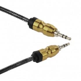 Kabel Audio Aux 3.5mm Gold Plated HiFi 1 Meter - AV117 - Black - 2