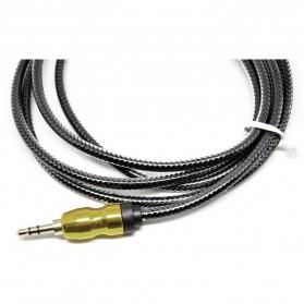 Kabel Audio Aux 3.5mm Gold Plated HiFi 1 Meter - AV117 - Black - 3