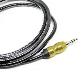 Kabel Audio Aux 3.5mm Gold Plated HiFi 1 Meter - AV117 - Black - 4