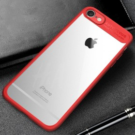 Transparent Full Protective Hardcase for iPhone 7/8 - Red