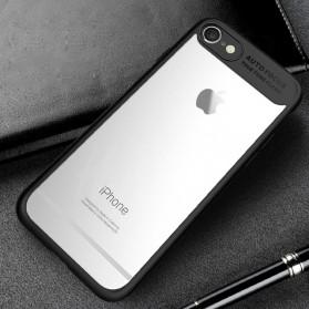 Transparent Full Protective Hardcase for iPhone 7 Plus / 8 Plus - Black - 1