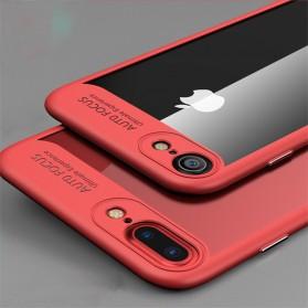 Transparent Full Protective Hardcase for iPhone 7 Plus / 8 Plus - Black - 2