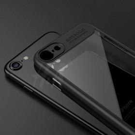 Transparent Full Protective Hardcase for iPhone 7 Plus / 8 Plus - Black - 4