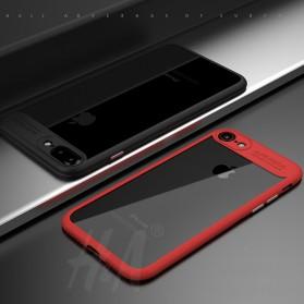Transparent Full Protective Hardcase for iPhone 7 Plus / 8 Plus - Black - 7