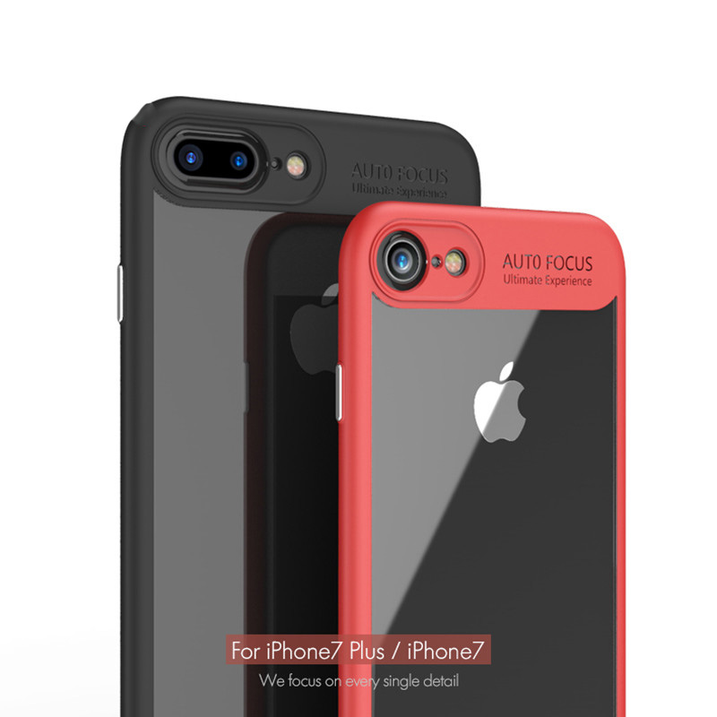 online store 2a5ec 12fd9 Transparent Full Protective Hardcase for iPhone 7 Plus / 8 Plus - Black