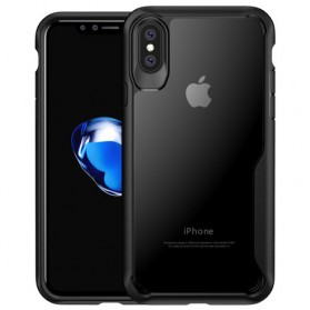Transparent Full Protective Hardcase for iPhone X - Black