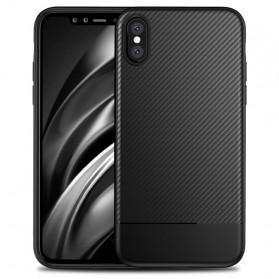 Hybrid Carbon Fiber Hardcase for iPhone X - Black