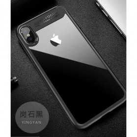 Transparent Fitted Protective Hardcase for iPhone X - Black
