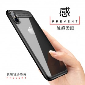 Transparent Fitted Protective Hardcase for iPhone X - Black - 2