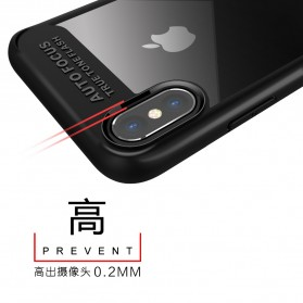 Transparent Fitted Protective Hardcase for iPhone X - Black - 3