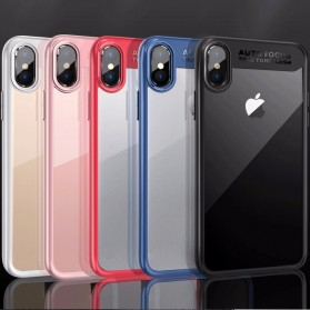 Transparent Fitted Protective Hardcase for iPhone X - Black - 5