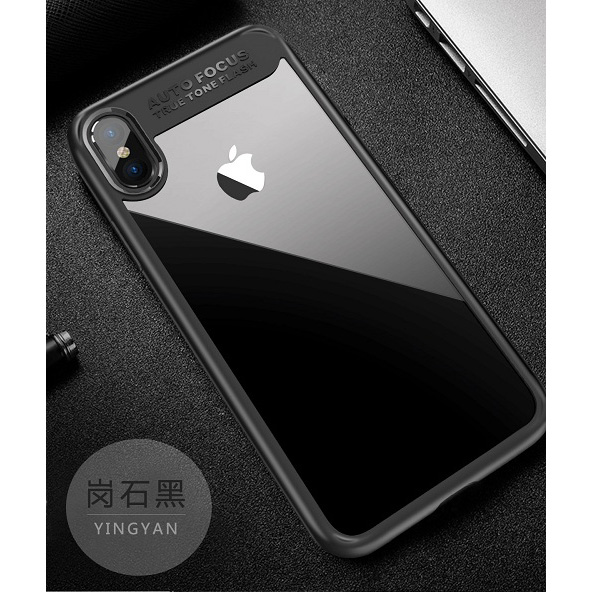 Transparent Fitted Protective Hardcase For Iphone X Black