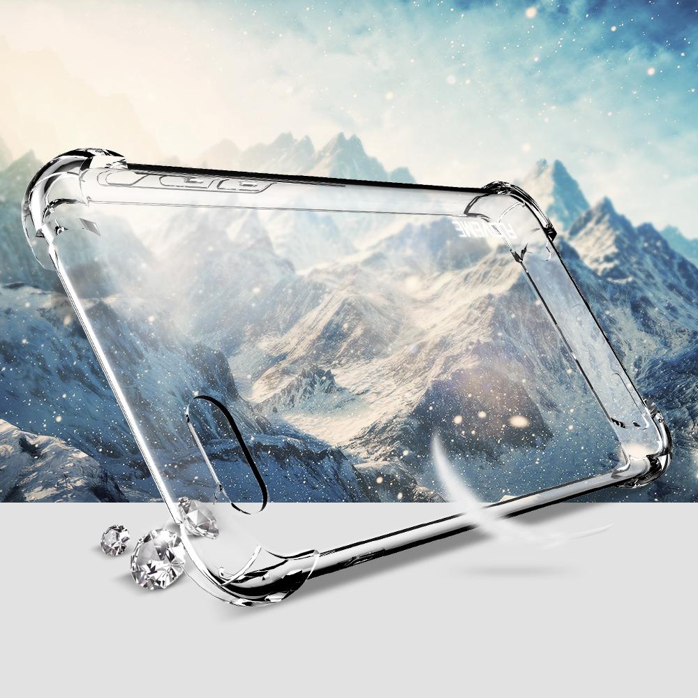 ... Anti Crack TPU Silicone Softcase for iPhone 7 Plus / 8 Plus - Transparent - 3 ...