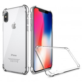 Anti Crack TPU Silicone Softcase for iPhone X XS - S112 - Transparent
