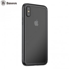 Bumper Hard & Soft Border Case for iPhone X - Black