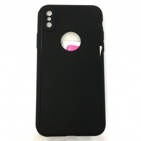 Full 360 Protector Silky Armor Case for iPhone X - Black