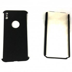 Full 360 Protector Silky Armor Case for iPhone X - Black - 2