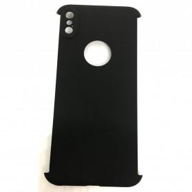 Full 360 Protector Silky Armor Case for iPhone X - Black - 3